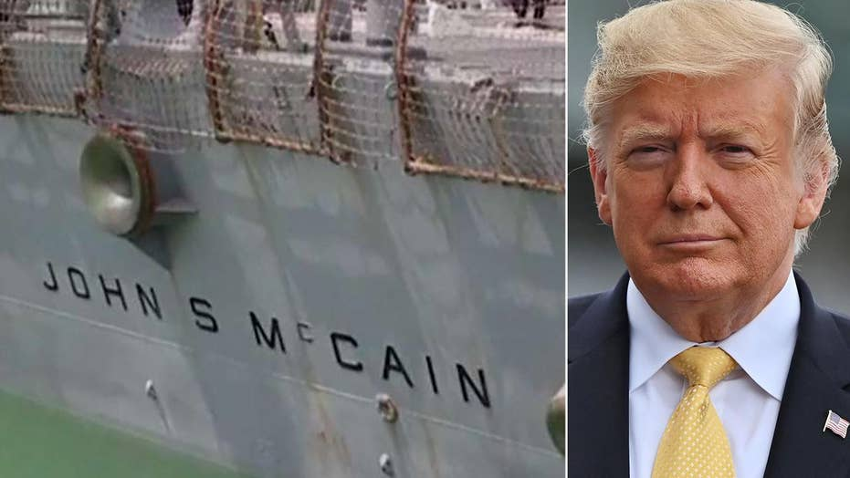 White House reacts to Mueller remarks, denies they wanted USS John McCain 'out of sight' during Trump trip