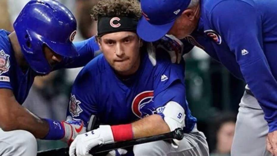 Foul ball off bat of Cubs player Albert Almora Jr. strikes child