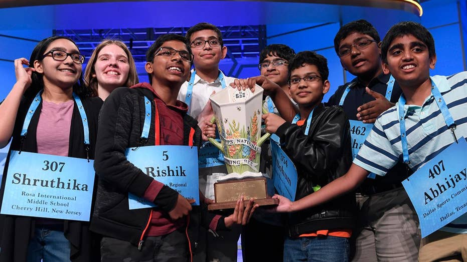 National Spelling Bee co-champions speak out on historic 8-way tie on 'Fox & Friends'