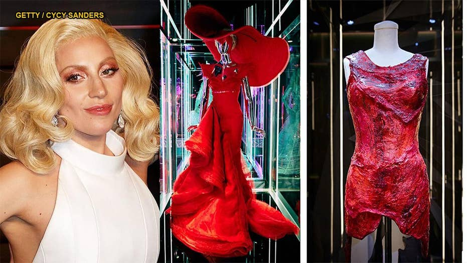 Lady Gaga's iconic outfits, including meat dress, displayed in exhibit
