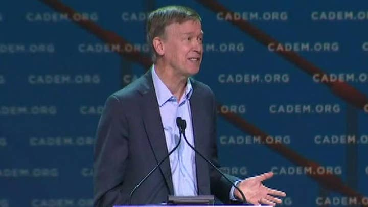Hickenlooper booed at California Dem convention for breaking with socialist agenda