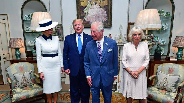 President Trump, first lady arrive for tea with Prince of Wales, Duchess of Cornwall