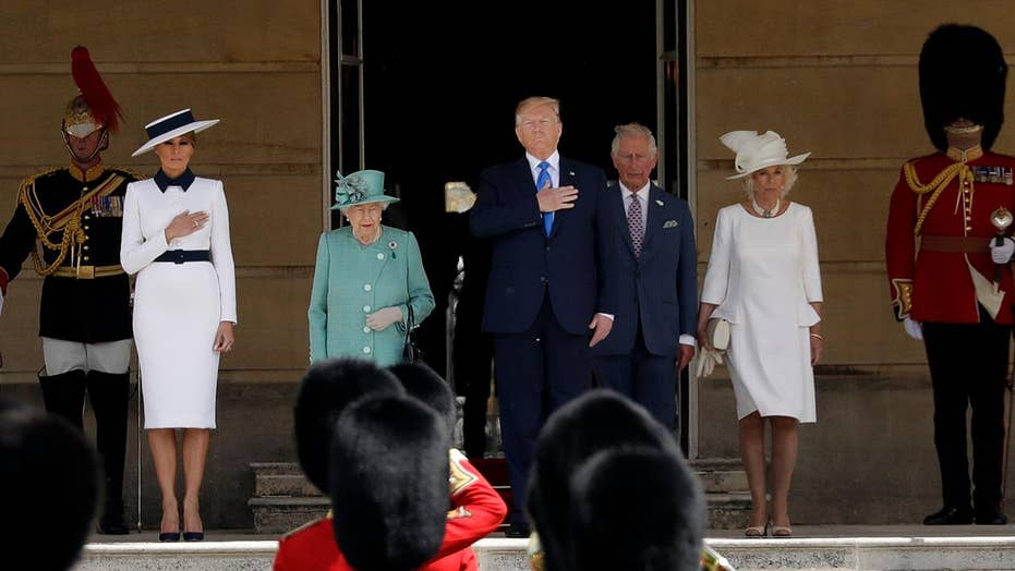 Trump meets with royal family at Buckingham Palace ahead of talks on trade, Brexit
