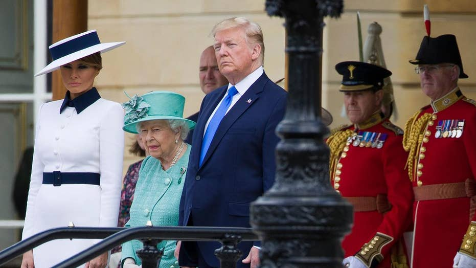 President Trump met with pomp, circumstance and controversy in London