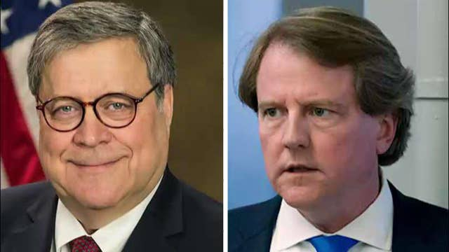 Democrats consider contempt for Attorney General William Barr and former White House counsel Don McGahn