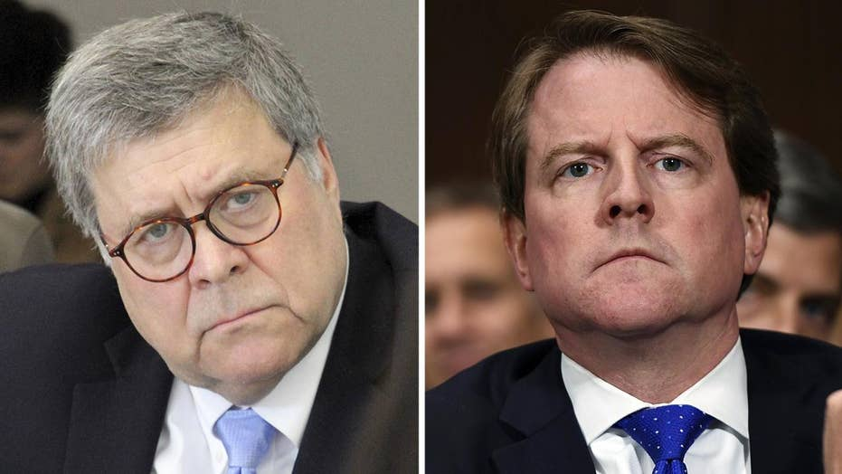 House Democrats set sights on Attorney General William Barr and former White House counsel Don McGahn