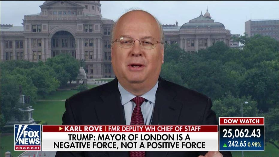 Trump should have avoided 'punching down' at London mayor, says Karl Rove