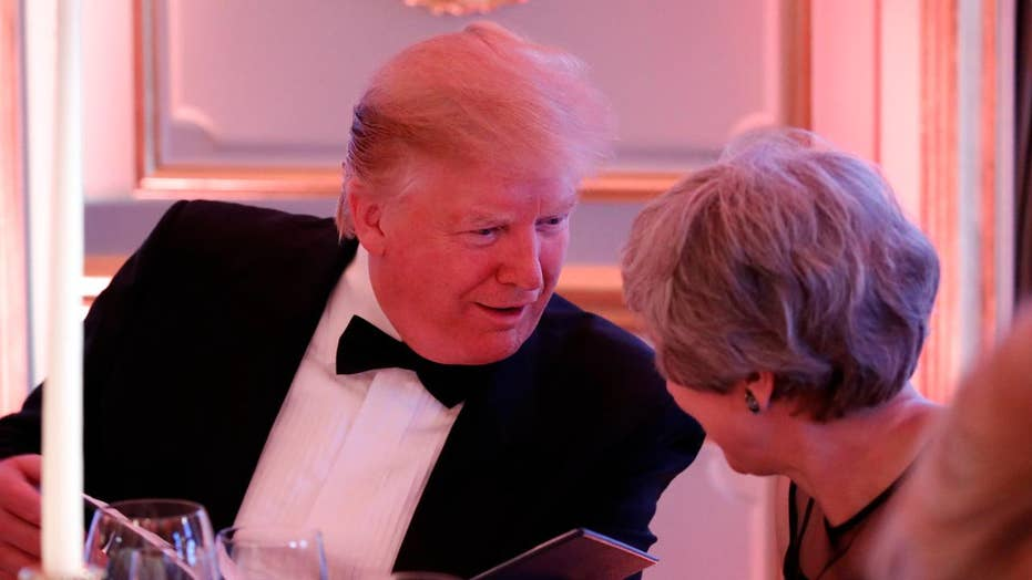 President Trump, first lady host dinner for Prince Charles and Duchess Camilla