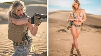 'World's hottest Marine' Shannon Ihrke strips down in new desert photo shoot
