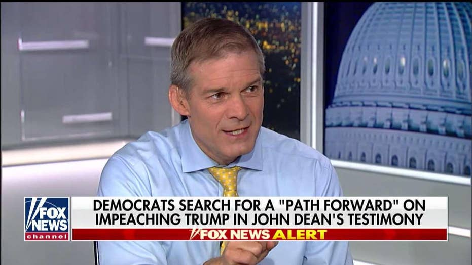 Jim Jordan: Democrats focused on impeachment and 'getting the president,' not helping the country