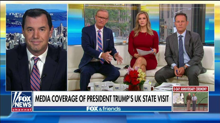 Joe Concha: Trump gets glowing reviews from UK media, while US media focuses on Baby Blimp, protests