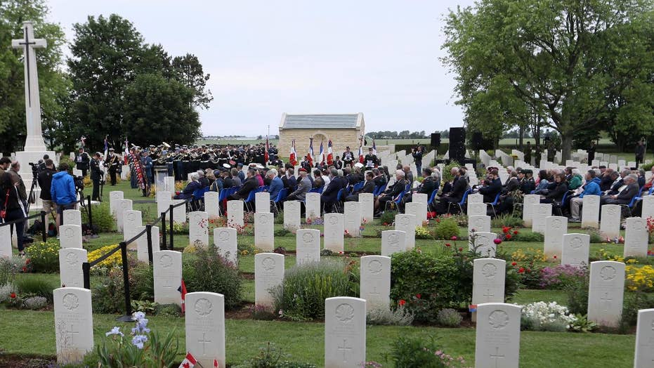 World leaders commemorate the 75th anniversary of D-Day