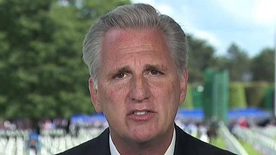 Kevin McCarthy commemorates D-Day from Normandy, France