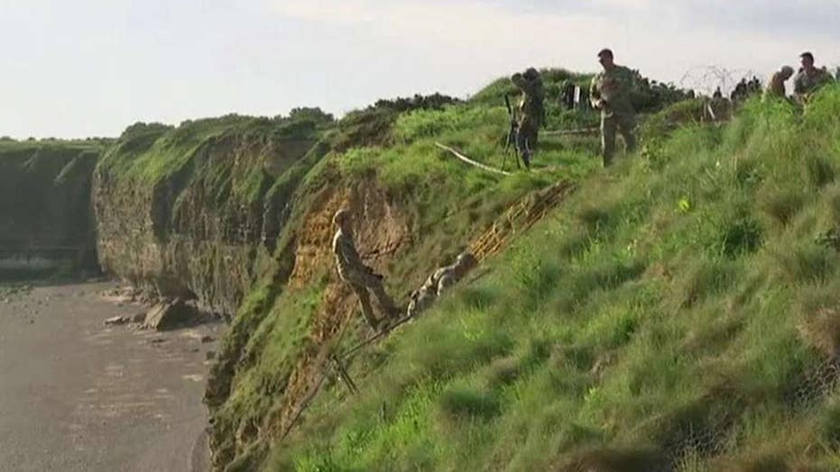US Army Rangers reenact risky climb to honor D-Day heroes