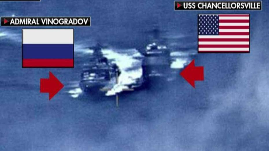 US, Russia warships nearly collide in Philippine Sea