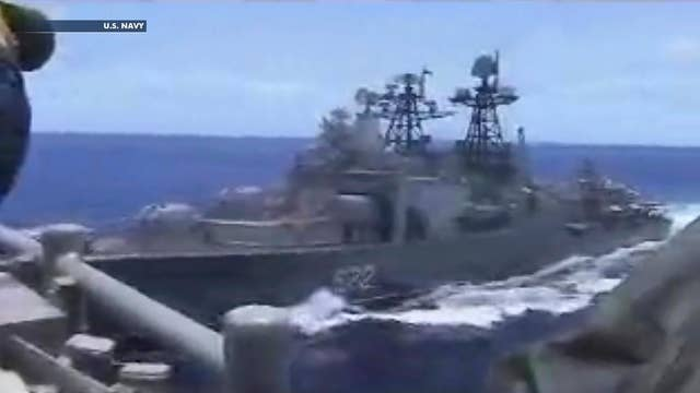 US Navy warship and Russian destroyer nearly collide in the Philippine sea