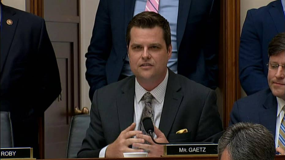 Rep. Matt Gaetz says John Dean made a cottage industry out of accusing presidents of acting like Richard Nixon