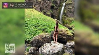 Irina Shayk shows off her figure on Instagram