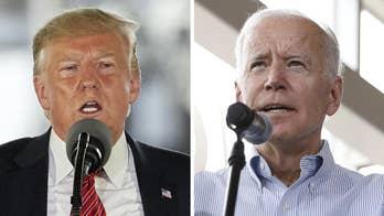 President Trump trades barbs with Joe Biden as both visit Iowa