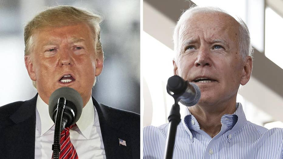 President Trump trades barbs with Joe Biden as both visit Iowa