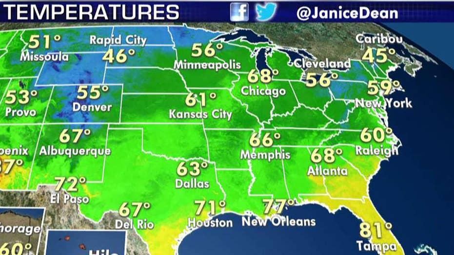 National forecast for Wednesday, June 12