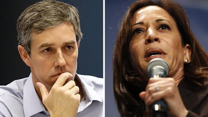 2020 presidential candidates Kamala Harris, Beto O'Rourke would prosecute Trump if elected