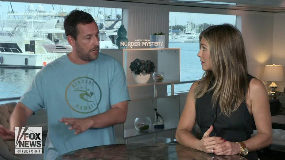 Adam Sandler, Jennifer Aniston speak on-screen chemistry in Netflix's 'Murder Mystery'