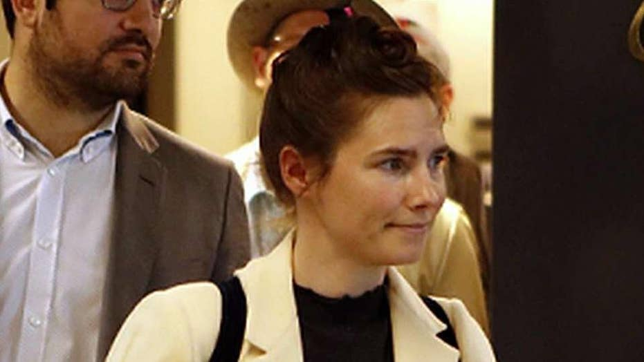 Amanda Knox returns to Italy for the first time since her acquittal