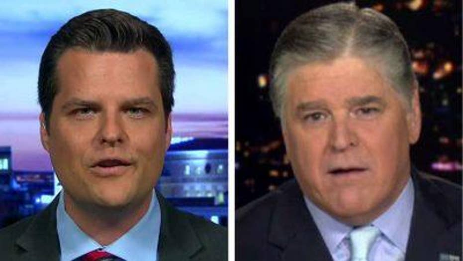 Matt Gaetz on Hannity regarding Trump and oppo research