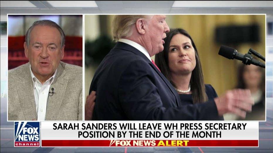 Huckabee calls daughter Sarah Sanders a 'warrior,' says
