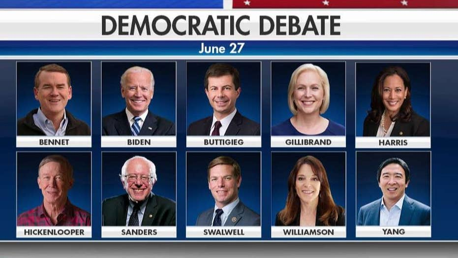 Democrats name lineup for first 2020 presidential debate