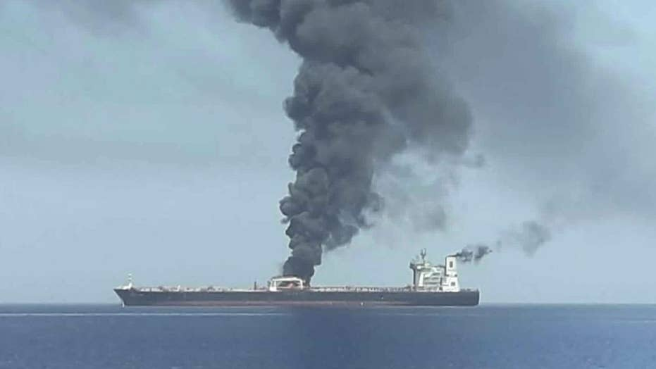 President Trump says Iran is responsible for tanker attacks in the Gulf of Oman