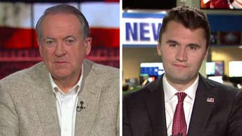 Mike Huckabee and Charlie Kirk react to the media's bias