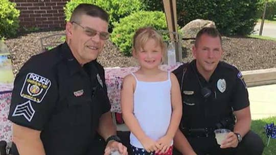 7-year-old girl raises money for local police department