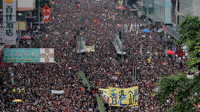 Two million people in Hong Kong protest China's growing influence