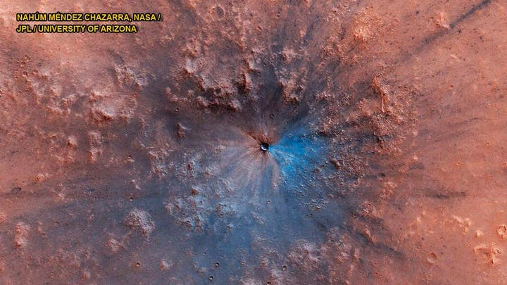 Impact crater on Mars exposes mysterious material
