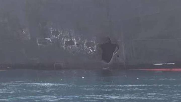 New images released from tanker attacks in Gulf of Oman
