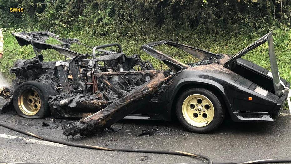Bankrupt billionaire James Stunt's Lamborghini destroyed in fire