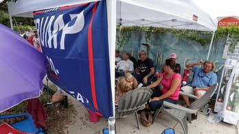 Hundreds of Trump supporters line up hours ahead of 2020 campaign kickoff rally in Florida