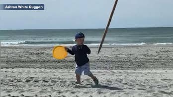 Toddler nearly impaled by flying beach umbrella in South Carolina