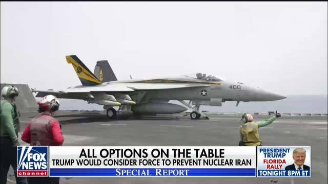 Trump says he would consider using force to prevent Iran from obtaining a nuclear weapon