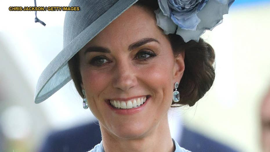 Kate Middleton dazzles in sheer blue dress at Royal Ascot