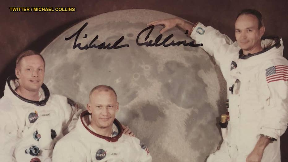 Astronaut shares unseen photo 'found at the bottom of a box' of Apollo 11 Moon landing crew