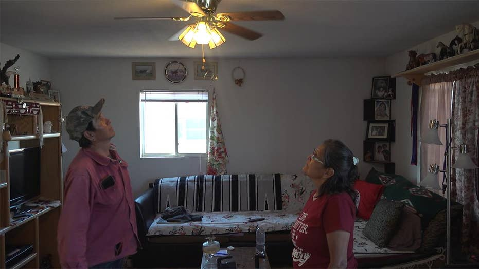 Volunteers installed electricity at Native Americans' homes