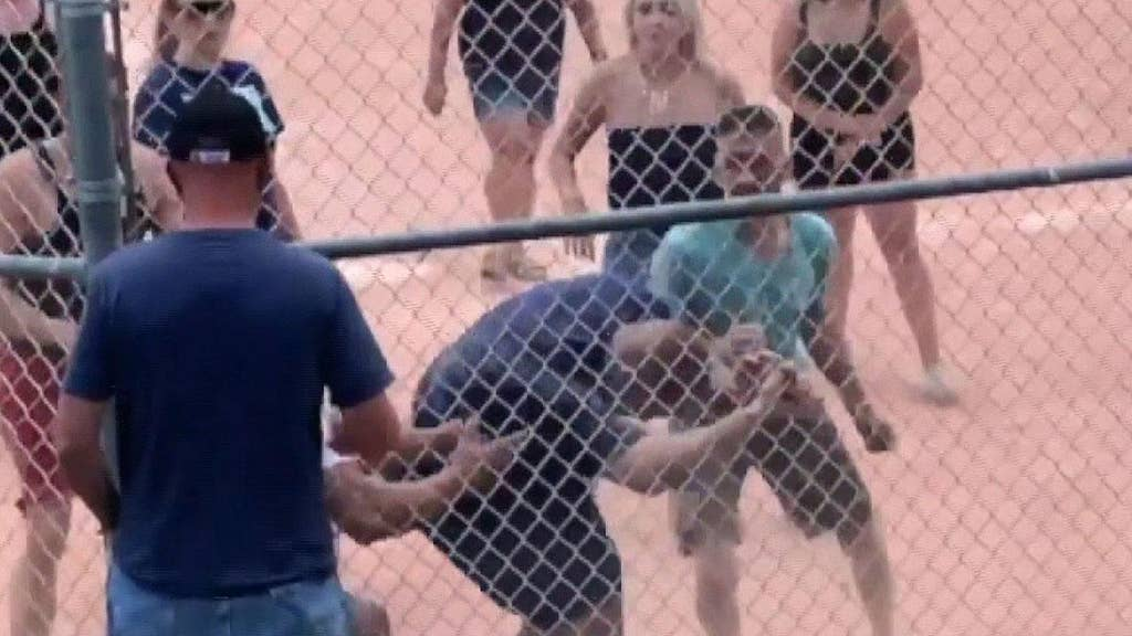 WATCH: Teen ump's call at youth baseball erupts into parent melee