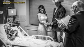 Texas couple weds at hospital so groom's 100-year-old grandmother can watch