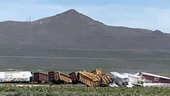 Train carrying ammunition derails in Nevada