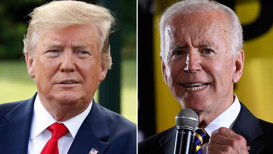 Biden tries to wrestle credit for the economy away from Trump