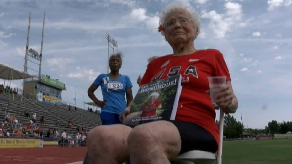 103-year-old sets a new Senior Games record