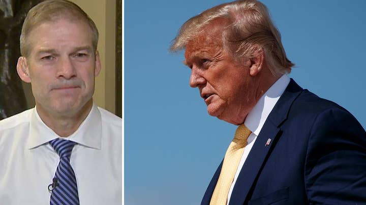 Rep. Jordan reacts to Trump criticizing GOP for not being as aggressive on subpoenas as Democrats